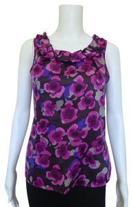 Banana Republic Floral Top Purple