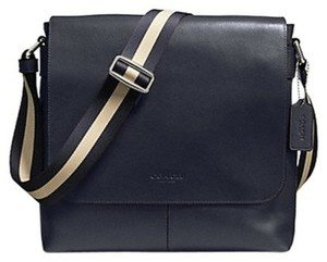 Coach Cross Body Messenger Charles Signature Sullivan Midnight Blue Messenger Bag