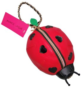 Betsey Johnson Ladybug Luck Be A Lady & Hearts Wristlet in Red & Black