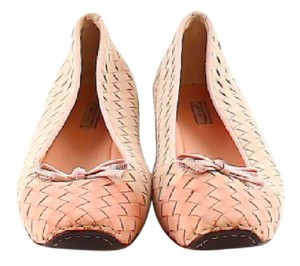 Bottega Veneta Woven leather Pale Pink/ Flats