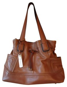 Tignanello Brown Leather Shoulder Bag