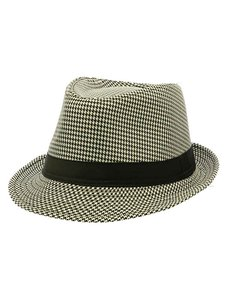 fedora New Ladies Houndstooth fedora Hat