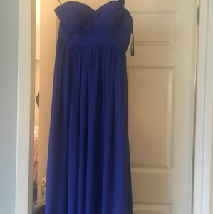 Bill Levkoff Horizon Blue Bill Levkoff Royal Blue Long Chiffon Bridesmaid Dress Dress