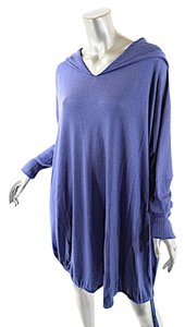 Pashmere Periwinkle Hooded Tunic