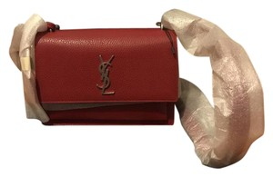 Saint Laurent Satchel in Lipstick Red