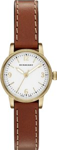 Burberry Burberry The Utilitarian Brown Leather Gold Steel Watch BU7865