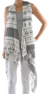 LONG VEST AZTEC PATTERN COVER UP VEST