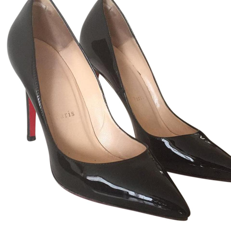 Christian Louboutin Pigalle 100mm Black Patent Pumps Size US 7.5 ... bf143167d181