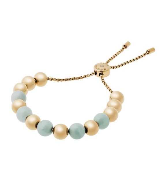 Item - Green/Blue and Gold Mkj5222710 Green/Blue Beaded Stretch Bracelet