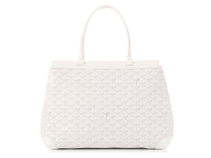 Goyard New Logo Gy.l0123.01 Leather Tote in White