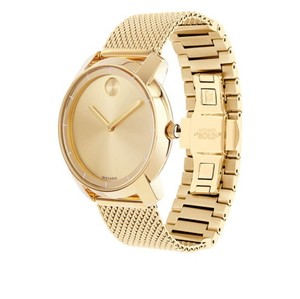 Movado Bold Gold Dial Ion-plated Mesh Watch