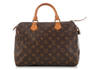 Louis Vuitton Lv.l0324.10 Leather Top Handle Gold Ghw Satchel in Brown