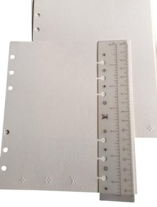 Louis Vuitton Louis Vuitton MM agenda ruler, 13 pages of writing papers and 11 note