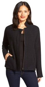 Eileen Fisher Roomy Fit Llightweight Wool Full Zip Front Cardigan