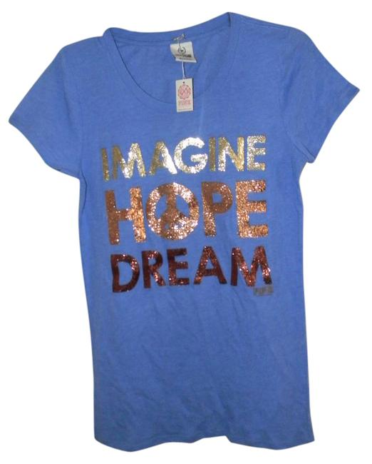 Item - Blue Bulk 2 .hope Imagine Dream Tees Tee Shirt Size 10 (M)