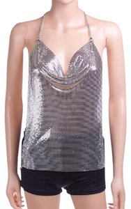 Other Body Chain Mesh Bodychain Top silver