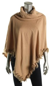 Alfani Tan Turtleneck Sweater Cape