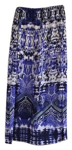 Express Maxi Skirt blue pattern