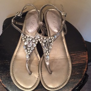 Unisa silver, beaded Sandals