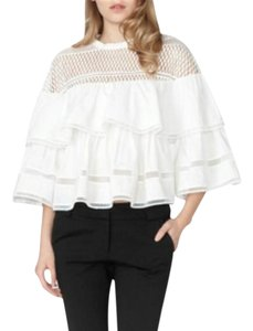 Gracia Ruffle Top White