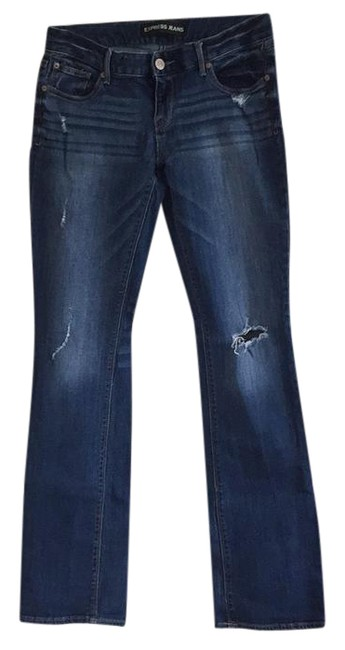 Preload https://item4.tradesy.com/images/express-distressed-barely-boot-cut-jeans-size-32-8-m-21230878-0-1.jpg?width=400&height=650