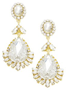 Other Glass crystal teardrop Statement Evening earrings