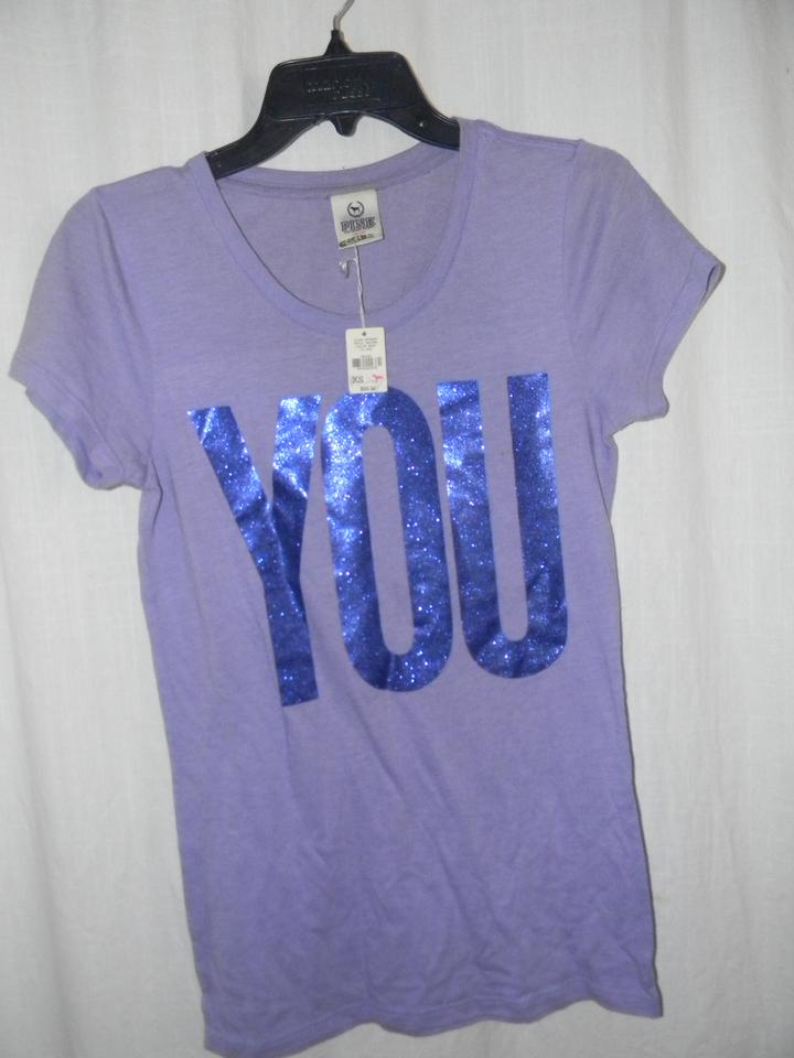 2e87a0fa73fa3 Victoria's Secret Lavender You/Me Glitter Metallic Metallic Graphics Tees  Tee Shirt Size 2 (XS) 46% off retail
