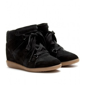Isabel Marant Bluebel Wedge Sneakers Black Athletic