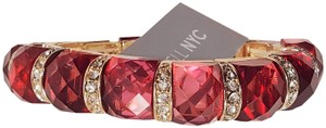 Lydell NYC Lydell NYC Electric Pinnk CZ Gold Plated Stretch Bracelet