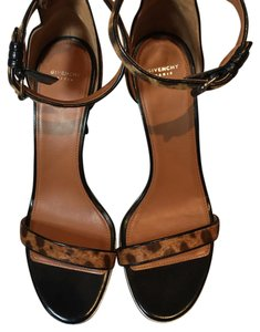 Givenchy Tan and Brown Leopard Sandals