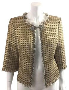 Trina Turk Chanel Chanel Look For Less Le Palm Gold Metallic Tweed Jacket