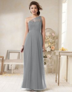 Alfred Angelo Gray (Morning Fog) Alfred Angelo Style 8615l Bridesmaid Dress