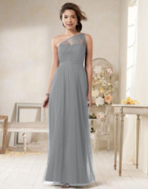 Item - Gray (Morning Fog) Tulle Style 8615l Formal Bridesmaid/Mob Dress Size 6 (S)