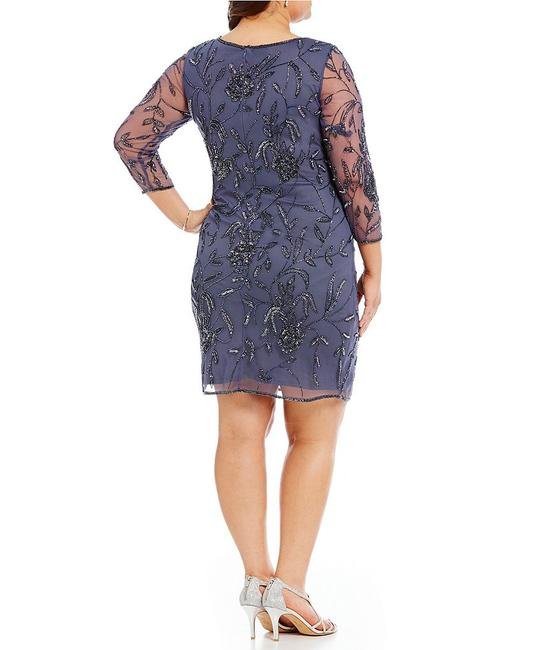 Pissaro Sequins Floral Elegant Formal Beaded Dress