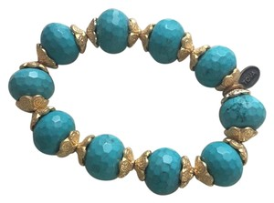 Macy's real turquoise stretch bracelet