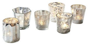 West Elm Mercury Glass Votives (24)