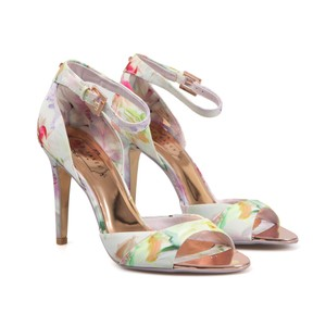 Ted Baker Caleno Hanging Gardens Heeled Sandals - Pink Wedding Shoes