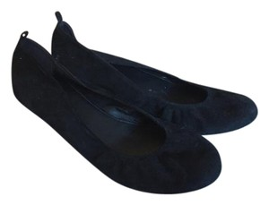 J.Crew Genuine Suede Genuine Leather Classic Comfortable Black Flats