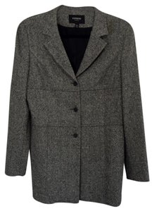 Express Tweed Stretch / Jacket Grey Tweed Slit Cuff Tweed Grey Blazer