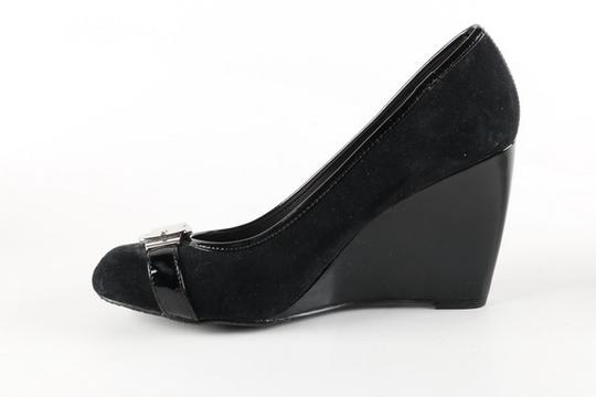 Vince Camuto Patent Leather Suede Silver Morina Leather black Wedges