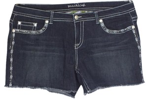 Maurices Plus Size Fashions Rhinestones Embroidered Cut Off Shorts