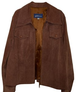 Express Suede Leather Silky Lining Bleus Leather Copper Brown Leather Jacket