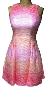 Shoshanna short dress Pink/orange on Tradesy