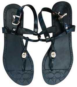 Coach Jelly Size 7 Black Sandals