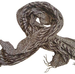 The Limited Leopard and zebra print large scarf