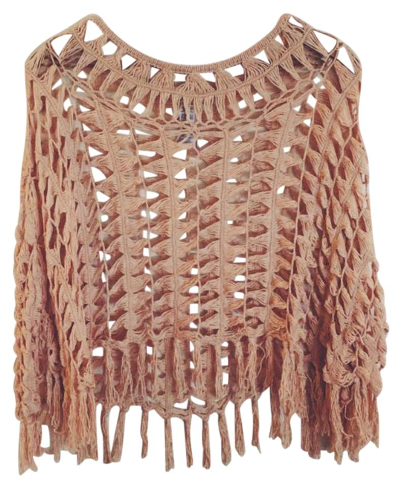f79f189aae Forever 21 Peach Creme Boho Crochet Cover-up/Sarong Size OS (one ...