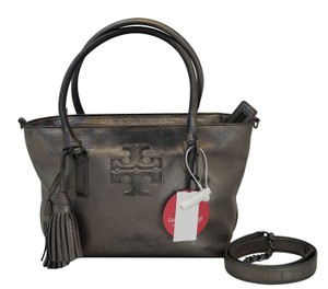 Tory Burch Thea Gunmetal Crossbody Tote