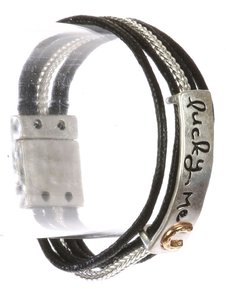 Fashion Jewelry For Everyone Silver Bracelet Metal Horseshoe Wraparound Aged Finish Textured Metal Other