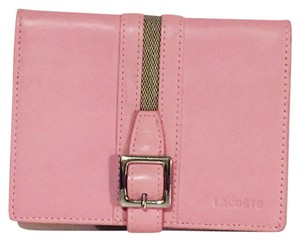 Lacoste pink women's Lacoste signature leather wallet in never used condition