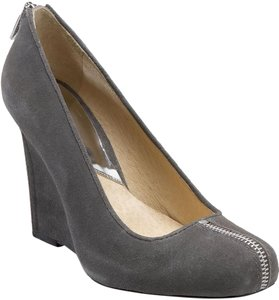 Michael Kors Heel Suede Zipper grey Wedges